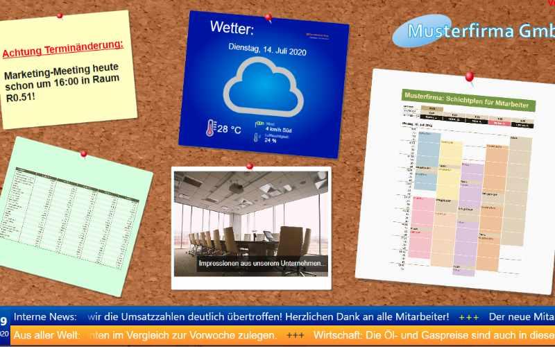 Wetter ist ein beliebter Medieninhalt in Digital Signage Konzepten