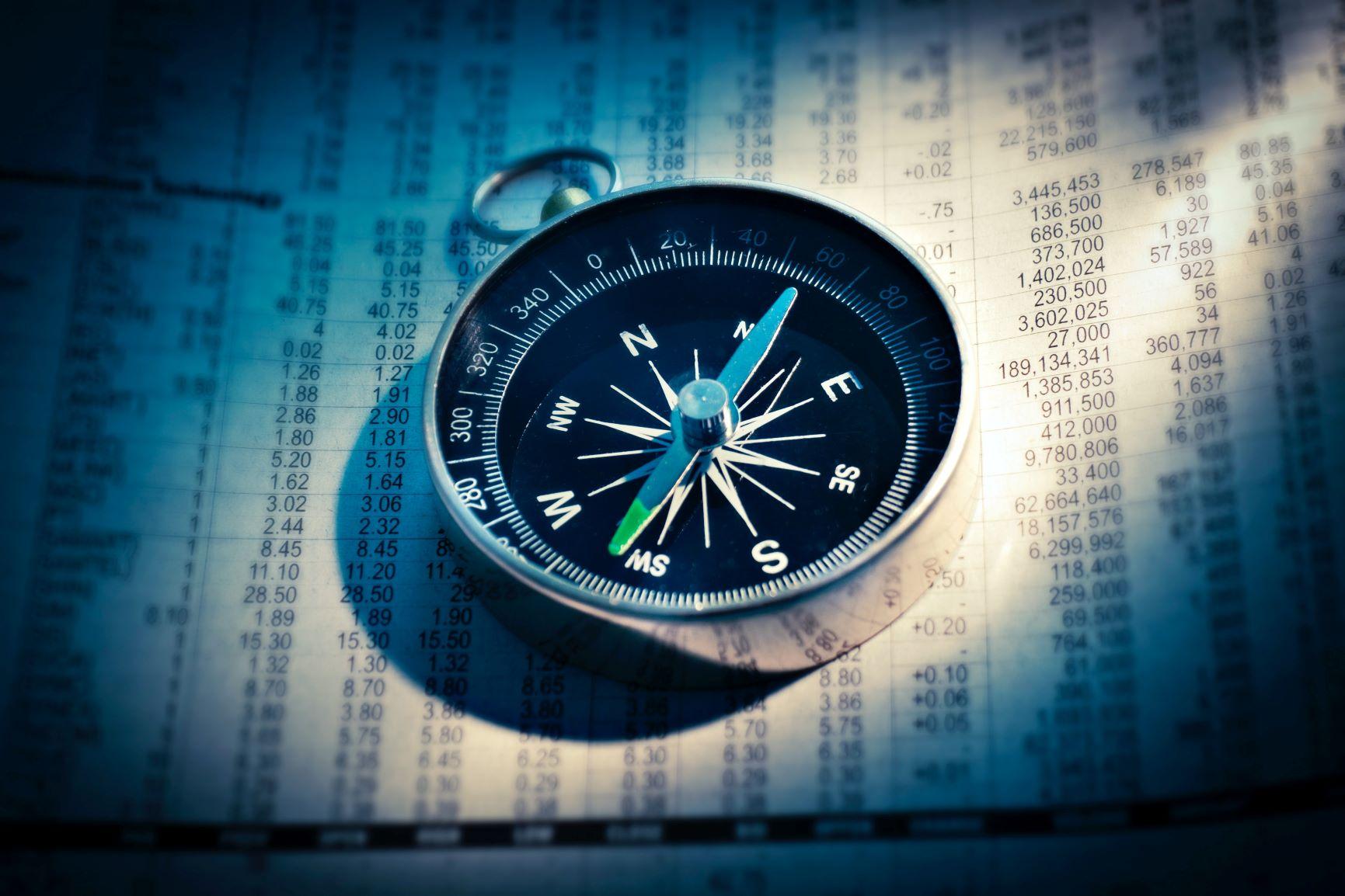 Der Kompass als Symbol für die Komplexität der TEchnik und der Digital Signage Anbieter